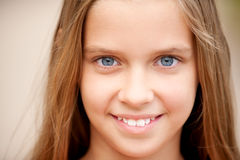 Portrait of young beautiful girl-teenager Stock Photo