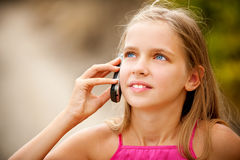 Portrait of young beautiful girl-teenager Royalty Free Stock Photo