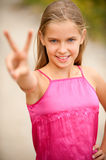Portrait of young beautiful girl-teenager Royalty Free Stock Images