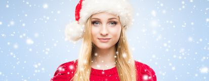 Portrait of young, beautiful and happy teenage girl celebrating. Portrait of young and pretty girl Stock Photo