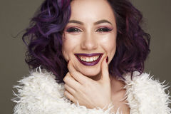 Portrait of young beautiful happy woman Royalty Free Stock Images