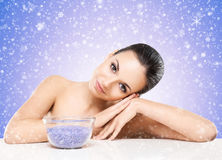 Portrait of young, beautiful and healthy woman Royalty Free Stock Photography