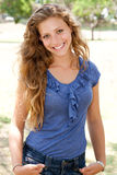 Portrait of young beautiful lady Royalty Free Stock Photos