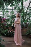 Portrait of a young beautiful pregnant woman royalty free stock photography