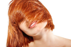 Portrait of young beautiful redheaded girl Stock Images