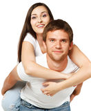 Portrait of a young beautiful smiling couple Royalty Free Stock Image