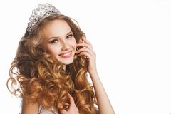 Portrait of young beautiful smiling happy bride Royalty Free Stock Image