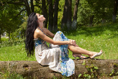 Portrait of the young beautiful smiling woman Royalty Free Stock Photo
