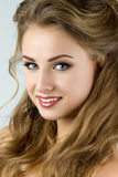 Portrait of young beautiful smiling woman Royalty Free Stock Image