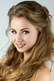 Portrait of young beautiful smiling woman Royalty Free Stock Photography