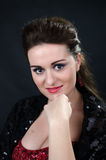 Portrait of young beautiful soprano singer Royalty Free Stock Image