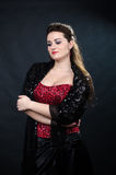 Portrait of young beautiful soprano singer Royalty Free Stock Photography