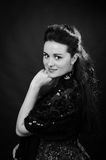 Portrait of young beautiful soprano singer Royalty Free Stock Images