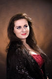 Portrait of young beautiful soprano singer Stock Photography