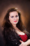 Portrait of young beautiful soprano singer Royalty Free Stock Photo
