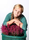 Portrait of young beautiful teen girl Stock Images