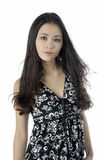 Portrait of a young beautiful woman. Studio portrait of a asian girl Stock Image