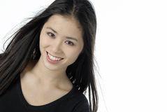 Portrait of a young beautiful woman. Studio portrait of an asian girl Stock Images