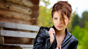 Portrait of the young beautiful woman Royalty Free Stock Photos