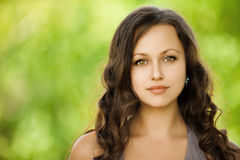 Portrait young beautiful woman Stock Photo
