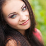 Portrait of young beautiful woman. Beauty stock image