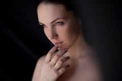 Portrait of young beautiful woman Royalty Free Stock Photo