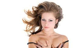 Portrait of the young beautiful woman Royalty Free Stock Photography