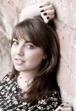 Portrait of young beautiful woman. Outdoor Royalty Free Stock Photos