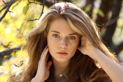 Portrait of a young beautiful woman Royalty Free Stock Photography