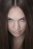 Portrait of young beautiful woman Royalty Free Stock Photography