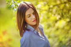 Portrait of young beautiful woman Royalty Free Stock Photos