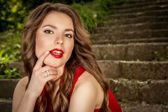 Portrait young beautiful woman Royalty Free Stock Photos