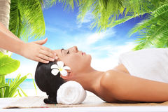 Tropic massage Stock Images