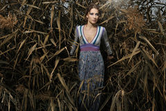 Portrait of a young beautiful  woman. Portrait of a young beautiful fashionable woman Stock Photo