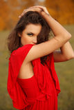 Portrait of young beautiful woman Royalty Free Stock Images