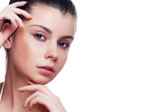 Portrait of young beautiful woman with healthy skin Stock Image