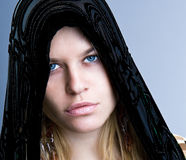 Portrait of young beautiful woman  with kerchief Royalty Free Stock Photography