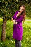 Portrait Of Young Beautiful Woman Stock Images