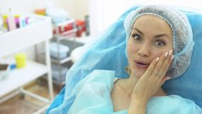Doctor - beautician holds reception stock footage