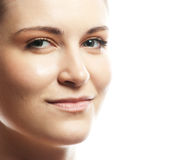 portrait of young beautiful woman's face Royalty Free Stock Images