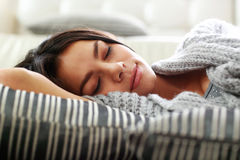 Portrait of a young beautiful woman sleeping Royalty Free Stock Photography