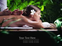 Massage woman Royalty Free Stock Images