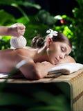 Stamp massage Royalty Free Stock Image