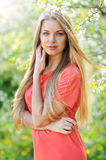 Portrait of young beautiful woman in spring Stock Image