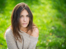 Portrait of young beautiful woman. Royalty Free Stock Photo