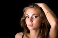 Portrait of the young beauty woman Royalty Free Stock Image