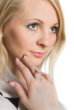 Portrait of young beauty woman. Stock Photos