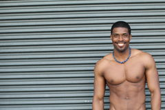 Portrait of Young Black Fitness Guy royalty free stock images
