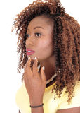 Portrait of young black woman. Royalty Free Stock Photos