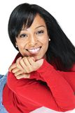 Portrait of young black woman smiling Royalty Free Stock Images